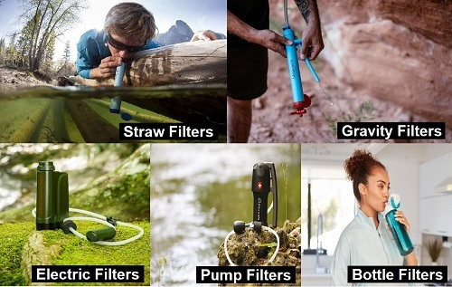 Types of Portable Water Filters